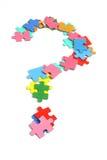 Parti di puzzle del puzzle Fotografie Stock