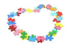 Parti di puzzle del puzzle Immagine Stock