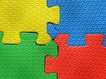 Parti di puzzle del puzzle Fotografie Stock Libere da Diritti