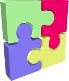 Parti di puzzle del puzzle Fotografia Stock Libera da Diritti