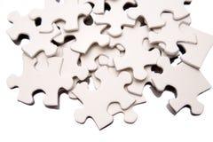 Parti di puzzle del puzzle Fotografia Stock