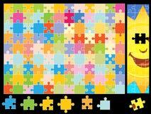 Parti di puzzle del sole Fotografia Stock