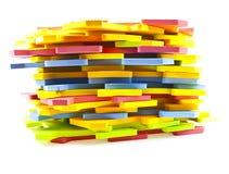 Parti di puzzle di alfabeto Immagine Stock