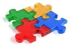 Parti di puzzle di colore Fotografia Stock Libera da Diritti