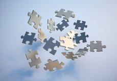 Parti di puzzle di volo Immagini Stock
