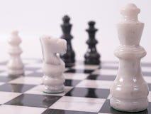 Parti di scacchi bianche Immagine Stock