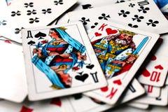 Parti di scacchi della regina e del re Fotografia Stock