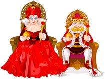 Parti di scacchi della regina e del re Immagine Stock
