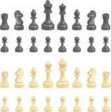 Parti di scacchi impostate Immagine Stock Libera da Diritti
