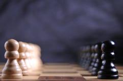 Parti di scacchi sulla scheda Immagini Stock Libere da Diritti