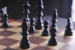 Parti di scacchi sulla scheda Fotografie Stock Libere da Diritti