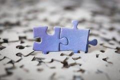 Parti di un puzzle Fotografia Stock Libera da Diritti