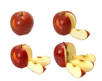 Parti di una mela Fotografia Stock