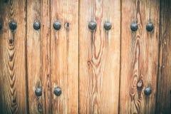 Parti di una porta di legno antica fotografie stock