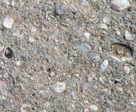 Parti di vecchio pavimento di calcestruzzo distrutto Fotografia Stock Libera da Diritti