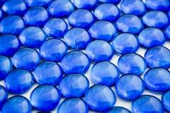 Parti di vetro blu immagine stock