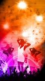 Parti- eller konsertbakgrund Arkivbilder