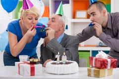 Parti för att fira den 70th födelsedagen Royaltyfri Foto