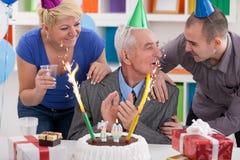 Parti för den 70th födelsedagen Royaltyfri Foto