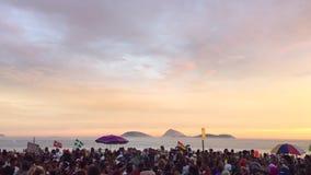 Parti för gata för Ipanema strandRio Brazil karneval lager videofilmer