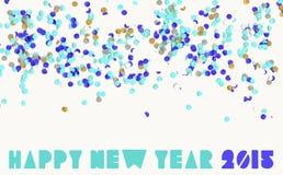 Parti 2015 för lyckligt nytt år Fotografering för Bildbyråer