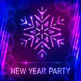 Parti för nytt år royaltyfri illustrationer