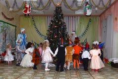 Parti för nytt år i dagiset royaltyfri foto