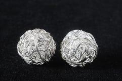 Parti fatte a mano dell'argento dei gioielli Fotografie Stock Libere da Diritti