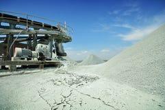 Parti incastrata di un mattone in aggetto della miniera del diamante Fotografia Stock Libera da Diritti