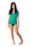 Parti inferiori di bikini e della maglietta Immagini Stock