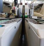 Parti meccaniche di macchinario industriale Fotografie Stock
