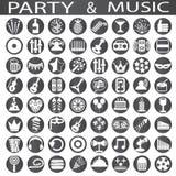 Parti- och musiksymboler Royaltyfria Bilder