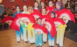 Parti på det kinesiska nya året i Inverness 2014 Royaltyfri Foto