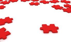 Parti rosse di puzzle Fotografia Stock Libera da Diritti