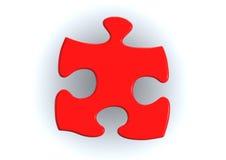 Parti rosse di puzzle Fotografia Stock