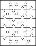 Parti separate del puzzle Fotografia Stock