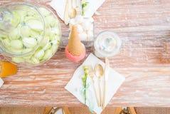 Parti som äter middag tabellen Royaltyfri Fotografi