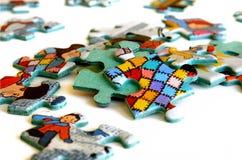 Parti sparse di puzzle Fotografia Stock