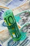 Parti superiori danesi. Valuta della Danimarca Immagini Stock