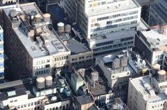 Parti superiori del tetto di Manhattan Fotografia Stock Libera da Diritti