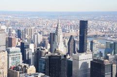 Parti superiori del tetto di Manhattan Fotografie Stock Libere da Diritti