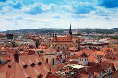 Parti superiori del tetto di Praga Immagini Stock Libere da Diritti