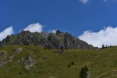 Parti superiori della montagna Immagine Stock