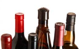 Parti superiori e stagnole della bottiglia Fotografie Stock Libere da Diritti