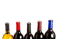 Parti superiori e stagnole della bottiglia Fotografia Stock