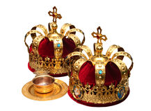 Parti superiori ortodosse di Ceremonial di cerimonia nuziale Immagine Stock