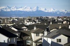 Parti superiori suburbane del tetto Fotografia Stock