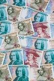 Parti superiori svedesi. Valuta svedese Fotografia Stock Libera da Diritti