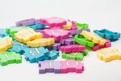 Parti variopinte di puzzle Fotografia Stock Libera da Diritti