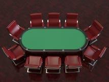 Partia pokera profesjonalisty filc krzes?a i st?? ilustracja wektor